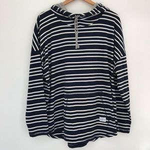 EUC Southern Tide navy white striped hoodie large
